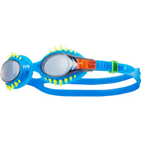 TYR Swimple Spikes Goggles Kinderen, smoke/blue